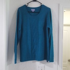 Teal blue sweater top